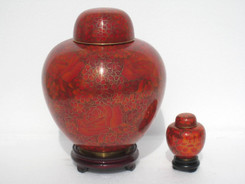 "Cloisonne Urn - 30005  Large - 10"" Height x 7"" Wide   Small - 3"" Height x 2"" Wide"