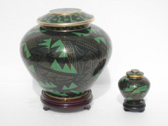 "Cloisonne Urn - 30007  Large - 7.75"" Height x 8"" Wide   Small - 3"" Height x 2"" Wide"