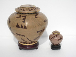"Cloisonne Urn - 30008  Large - 7.75"" Height x 8"" Wide   Small - 3"" Height x 2"" Wide"