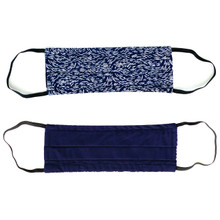 men's (L) reversible face mask- NAVY II