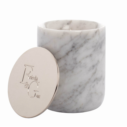 Carrara Marble Silver Lid by Frieda and Gus