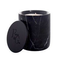 Black Marble candle with black lid by Frieda and Gus