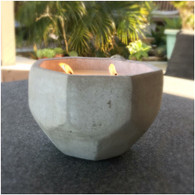 XL Concrete Geo Outdoor Citronella & Australian Sandalwood Soy Candle
