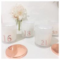 Numbered Candle by Frieda & Gus
