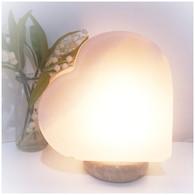White Himalayan HEART Salt Lamp 5kg