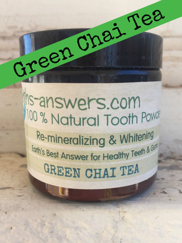 All Natural Remineralizing Green Chai Tea Tooth Powder