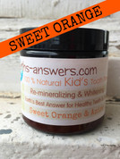All Natural Remineralizing Kids Sweet Orange Tooth Powder