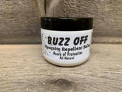 BUZZ OFF 100% natural deet free mosquito and flying insect repellent.  2 oz balm