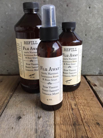 4 oz Flu Away Aromatherapy Spray