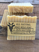 Handcrafted Skin Soothing Frankincense and Myrrh Goat Milk Soap Dry Skin Soap, Eczema Soap, Face and Body Soap Spa Gifts