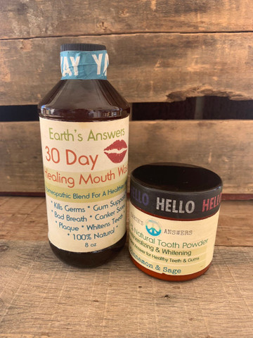 Cinnamon Sage Tooth Powder & Herbal Mouthwash Combo