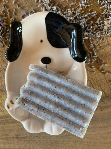 Awesome goat milk and lavender doggie shampoo bar! A must have for any skin type.