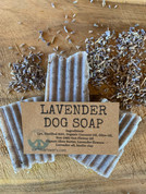 Lavender goat milk dog flea shampoo come in one 2 oz bar with free shipping.