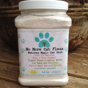 No More Cat Fleas All Natural Flea and Tick Powder Treatment Control and Preventative for Cats and Kittens.
