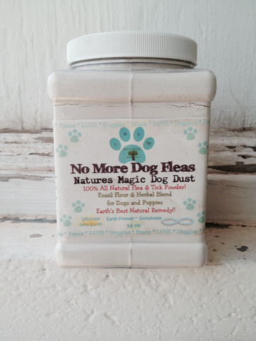 14 oz No More dog Fleas 100% All Natural Flea Powder Treatment and Preventative.