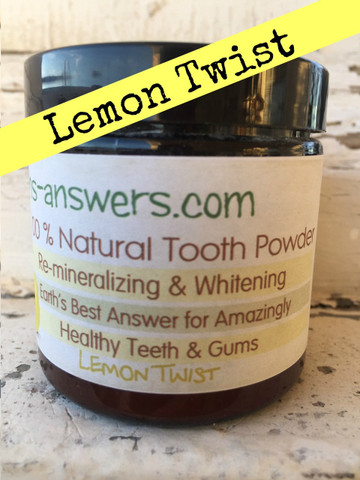 All Natural Lemon Remineralizing Tooth Powder