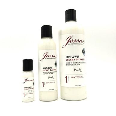Jessa Sunflower Creamy Cleanser Sensitive Skin.