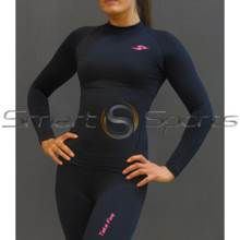 Take 5 Womens Thermals Compression Long Sleeve Winter Top Black