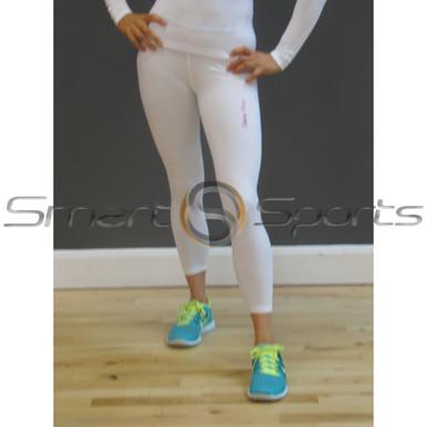 Take 5 Womens Thermal Compression Winter Pants Plain White