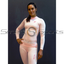 Womens Compression Long Sleeve Pink Top | Spandex Shirt Take 5