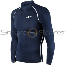Take 5 Cheap Mens Long Sleeve Compression Top Navy