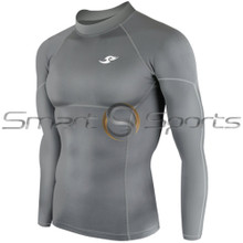 Take 5 Cheap Mens Long Sleeve Compression Top Panel Grey