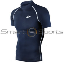 Take 5 Cheap Mens Short Sleeve Compression Top Navy