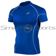 Take 5 Cheap Mens Short Sleeve Compression Top Blue