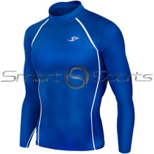 Take 5 Cheap Mens Long Sleeve Compression Top Blue