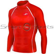 Take 5 Cheap Mens Long Sleeve Compression Top Red