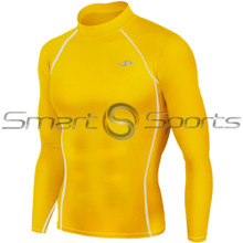 Take 5 Inexpensive Mens Long Sleeve Compression Top Yellow