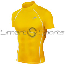 Take 5 Inexpensive Mens Short Sleeve Compression Top Yellow