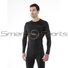 Tesla Mens Compression Top Long Sleeve Round Neck Winter Black