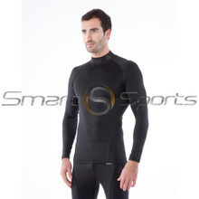 Tesla Mens Compression Top Long Sleeve Turtle Neck Winter Black