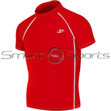 Kids Compression Top Short Sleeve Red Take 5