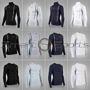 Mens Compression Top Black Lightweight Long Sleeve Athlete BX