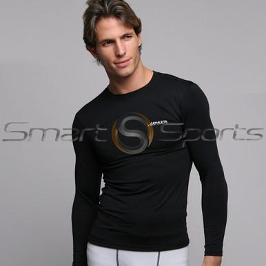 Athlete BX Mens Long Sleeve Lightweight Compression Top Plain Black