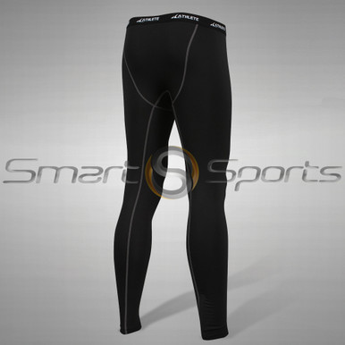 Athlete BX Mens Long Pants Lightweight Compression Tights Black
