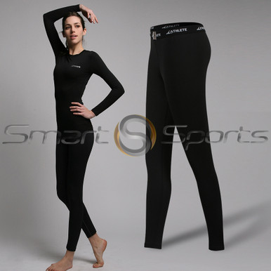 Womens Compression Tights Long Pants Lightweight Black Athlete BX