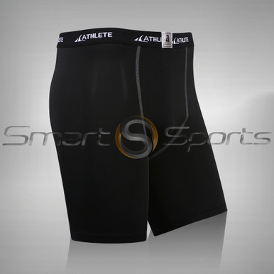 Athlete BX Mens Short Pants Lightweight Compression Shorts Black