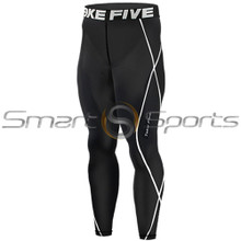 Mens Compression Pants Base Layer Tights Black Take 5