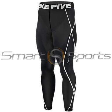 Mens Compression Pants Base Layer Tights Black Take 5