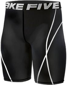 Mens Compression Shorts Base Layer Tights Black Take 5 S-4XL