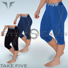 Womens Compression Capri Pants 3/4 Tights Take 5