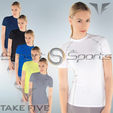 Womens Compression Short Sleeve Top Take 5 S-3XL