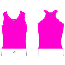 Womens Pink Surf Life Saving Rash Tank Top Base Layer Smart Sports
