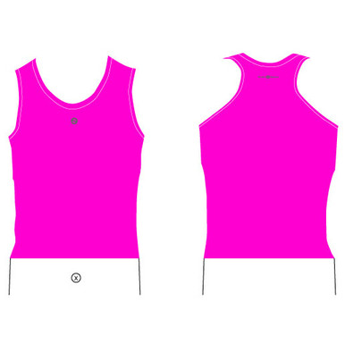 Womens Pink Surf Life Saving Rash Tank Top Base Layer Smart Sports