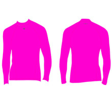 Mens Surf Life Saver Rash Vest Top Long Sleeve Pink Smart Sports