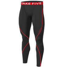 New Mens Compression Pants Base Layer Tights Black Red Take 5