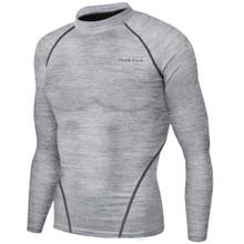 New Mens Compression Top Long Sleeve Skins Melange Take 5
